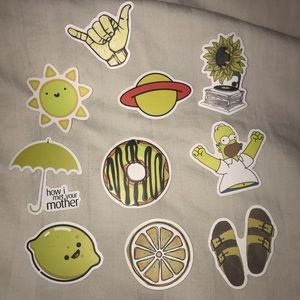 Other - Yellow VSCO Stickers 🌼💫